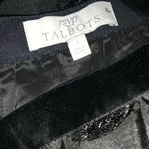 Talbots Skirts - TALBOTS RSVP LUREX CLIP DOT FULL BLACK SKIRT SZ 2